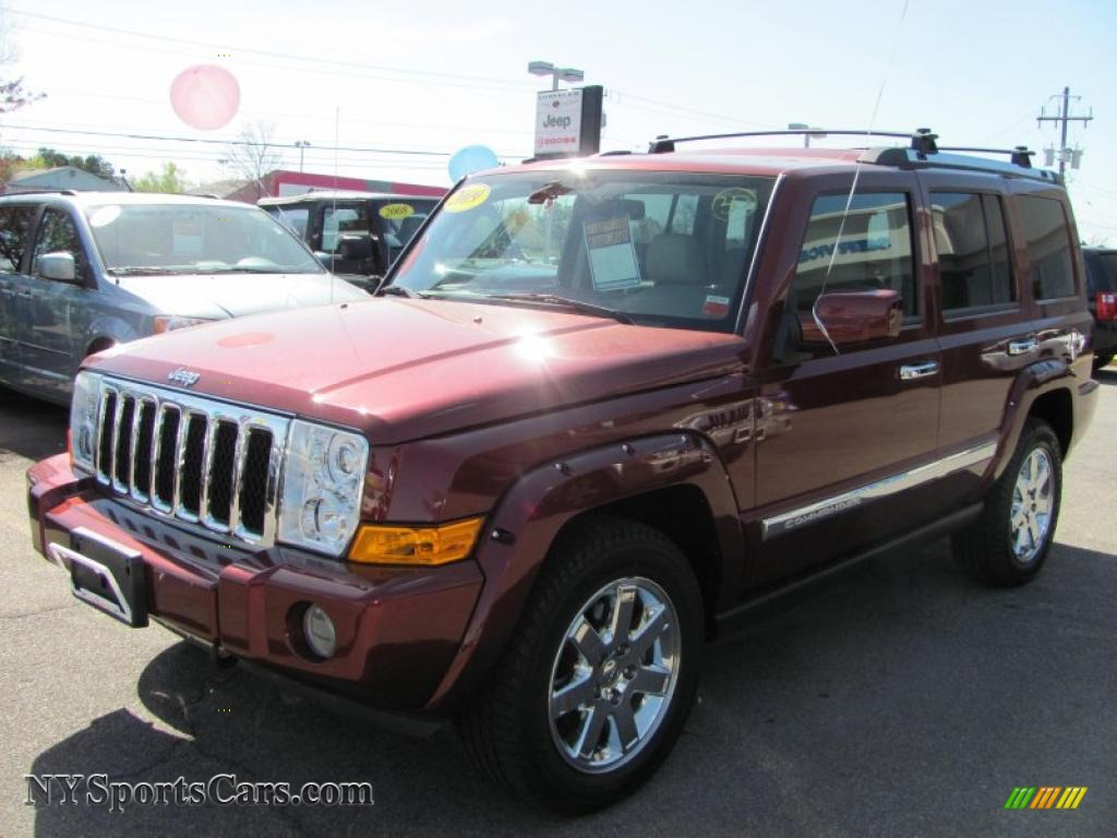 2009 jeep commander overland 4x4 in red rock crystal pearl. Black Bedroom Furniture Sets. Home Design Ideas