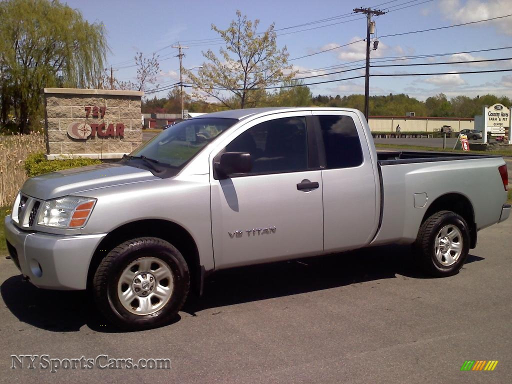 2005 nissan titan xe king cab 4x4 in radiant silver 531764 cars for sale. Black Bedroom Furniture Sets. Home Design Ideas