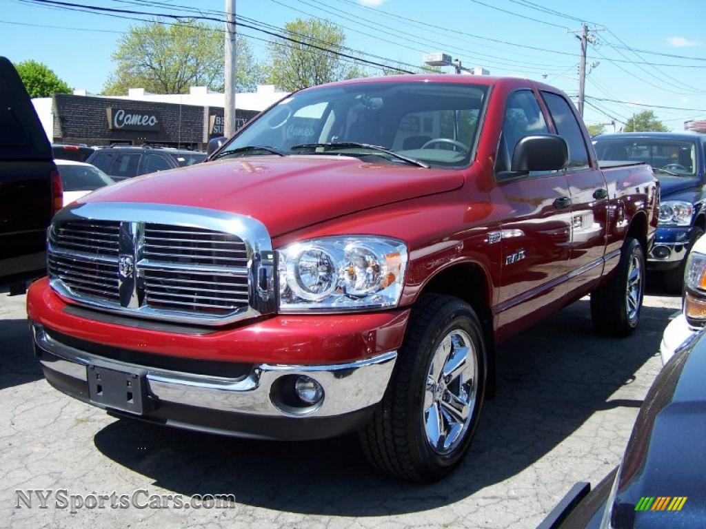 2008 dodge ram 1500 big horn edition quad cab 4x4 in inferno red crystal pearl 600630. Black Bedroom Furniture Sets. Home Design Ideas