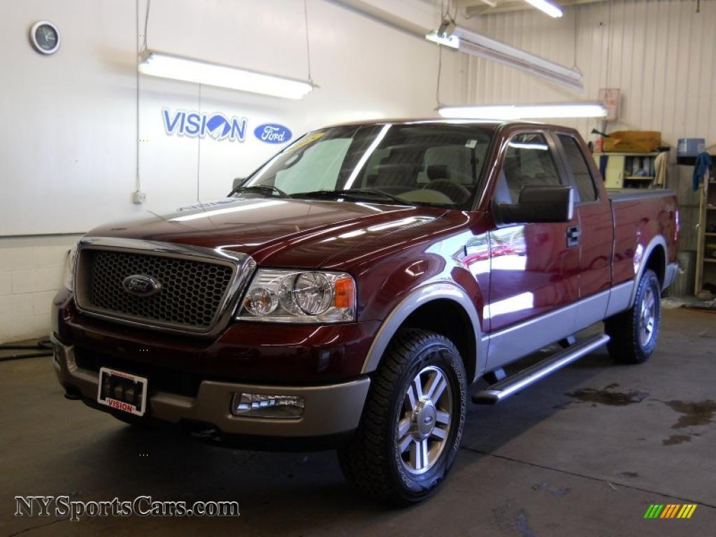 2005 Ford F150 Lariat Supercab 4x4 In Dark Toreador Red