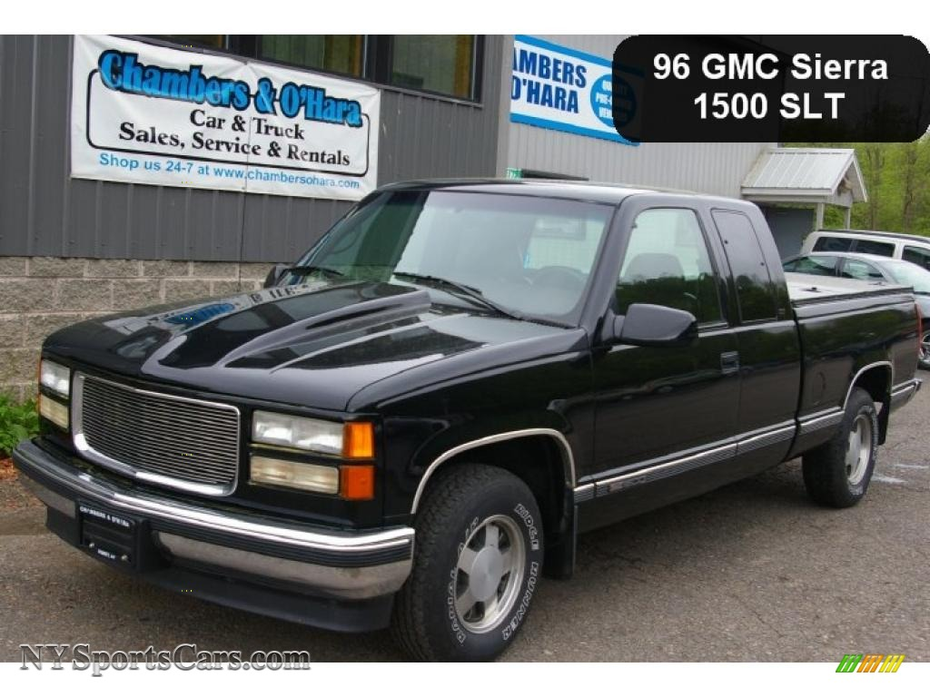 1996 gmc sierra 1500 slt extended cab in black 539168. Black Bedroom Furniture Sets. Home Design Ideas