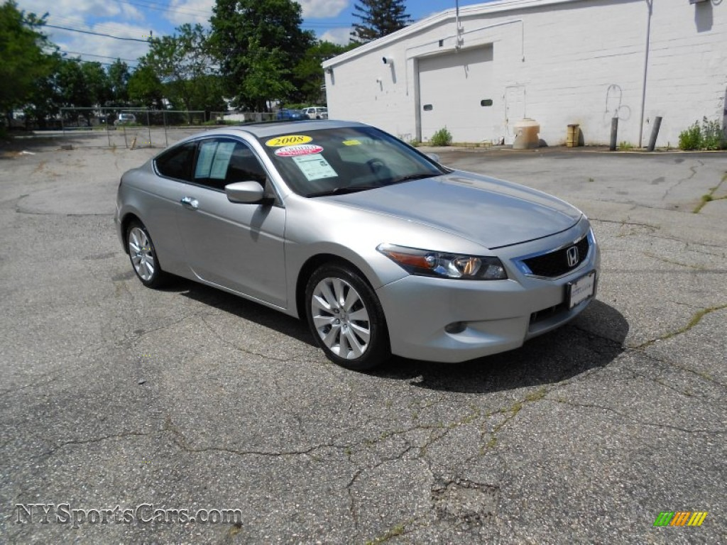 2008 honda accord ex l v6 coupe in alabaster silver metallic 007899 cars. Black Bedroom Furniture Sets. Home Design Ideas