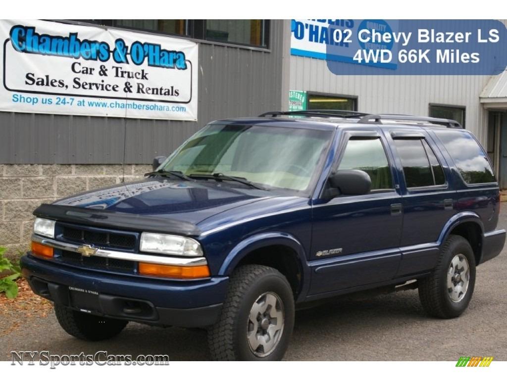 2002 Chevrolet Blazer Ls 4x4 In Indigo Blue Metallic 235088 Nysportscars Com Cars For Sale In New York