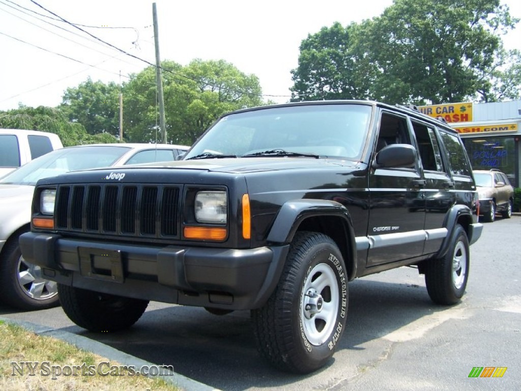 2000 jeep cherokee sport 4x4 in black 119994. Black Bedroom Furniture Sets. Home Design Ideas