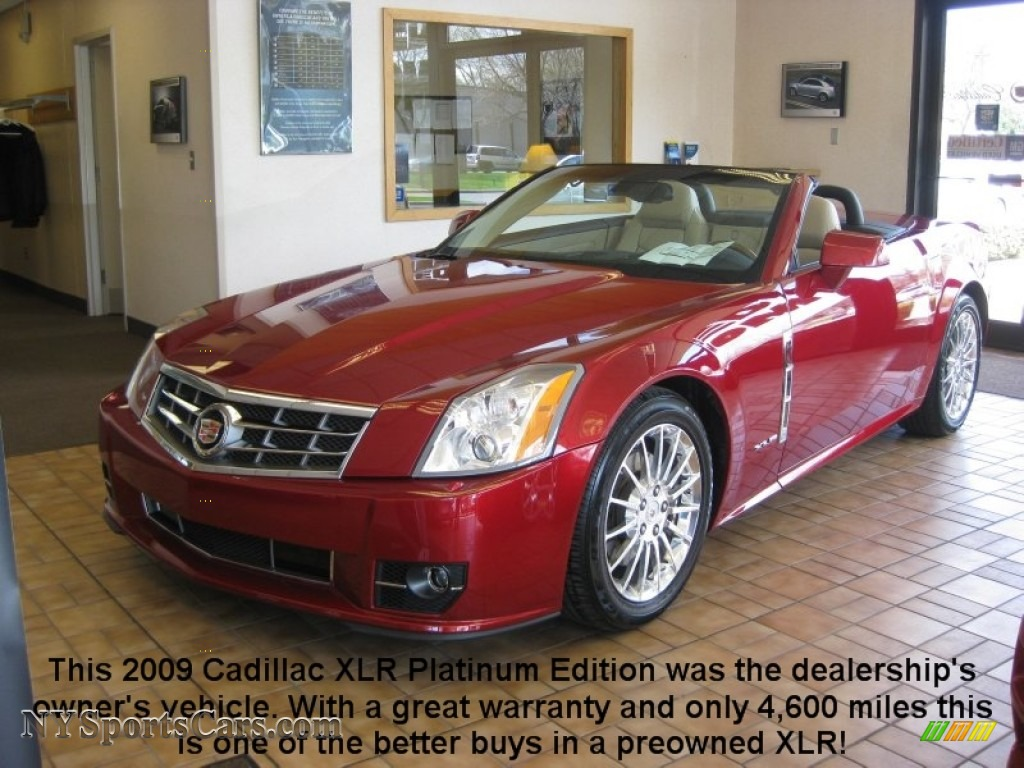 2009 cadillac xlr platinum roadster in crystal red 600101 cars for sale. Black Bedroom Furniture Sets. Home Design Ideas