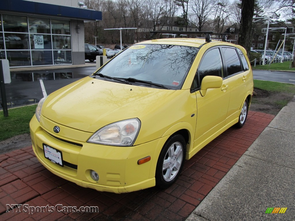 2003 suzuki aerio sx awd sport wagon in electric yellow. Black Bedroom Furniture Sets. Home Design Ideas