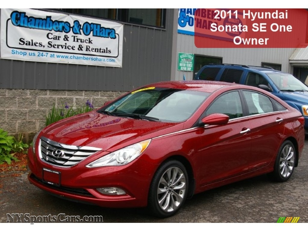 2011 Hyundai Sonata Se In Venetian Red 117086 Nysportscars Com Cars For Sale In New York
