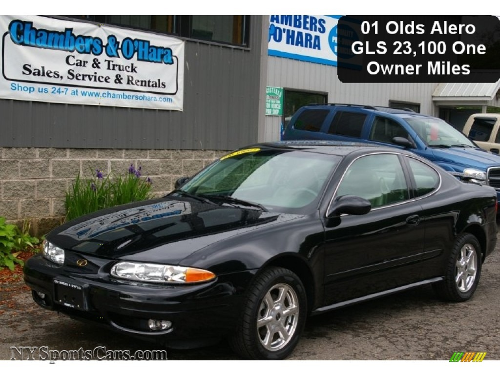 2001 oldsmobile alero gls coupe in onyx black 156365 nysportscars com cars for sale in new york nysportscars com