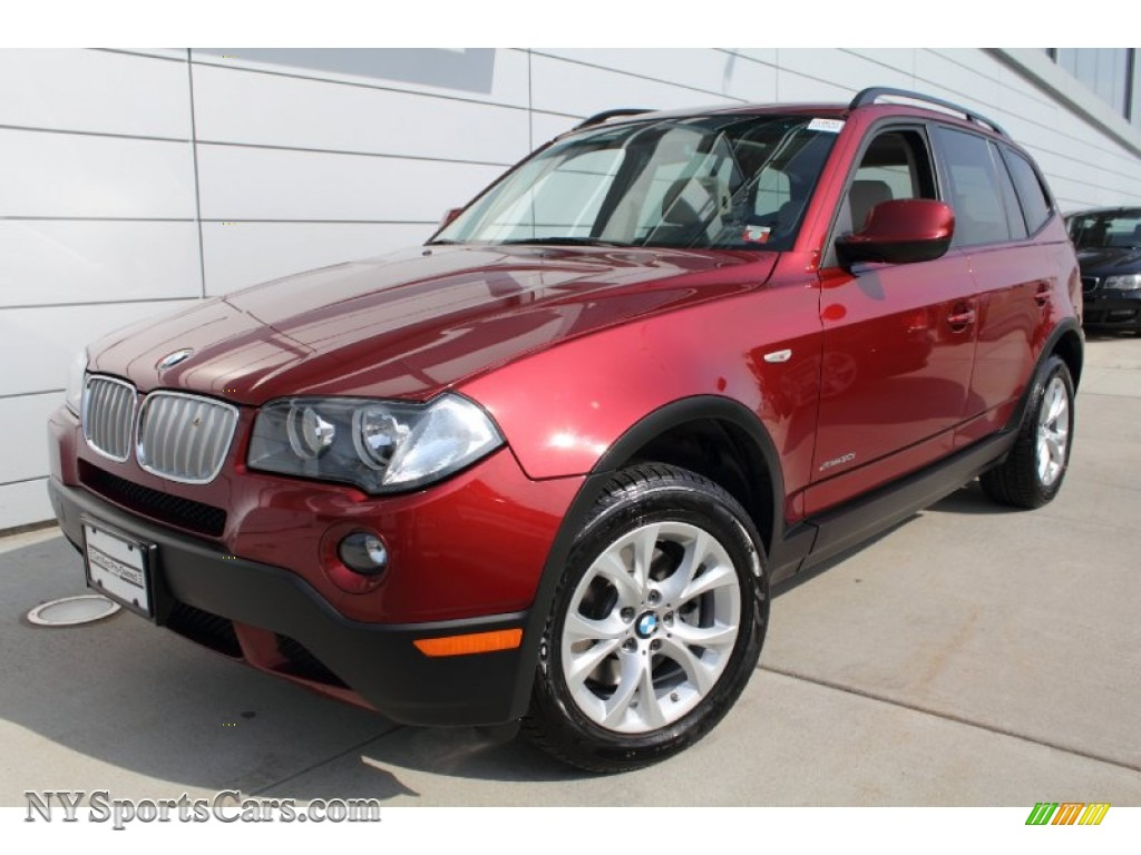 Vermilion Red Metallic Oyster BMW X3 XDrive30i