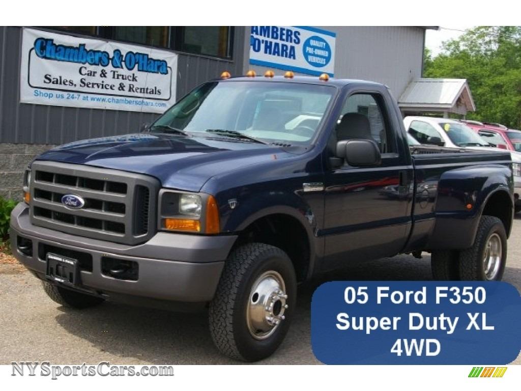 2005 ford f350 super duty xl regular cab 4x4 dually in true blue metallic c72678