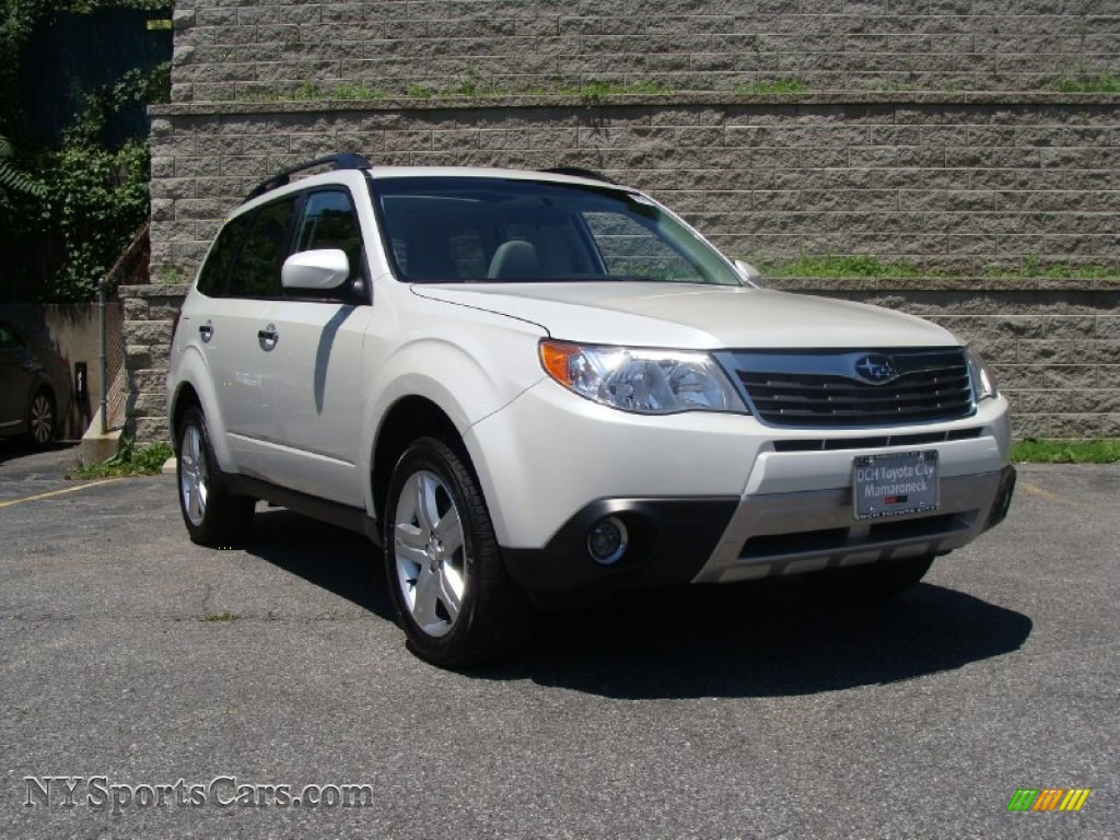 2009 subaru forester 2 5 x limited in satin white pearl. Black Bedroom Furniture Sets. Home Design Ideas