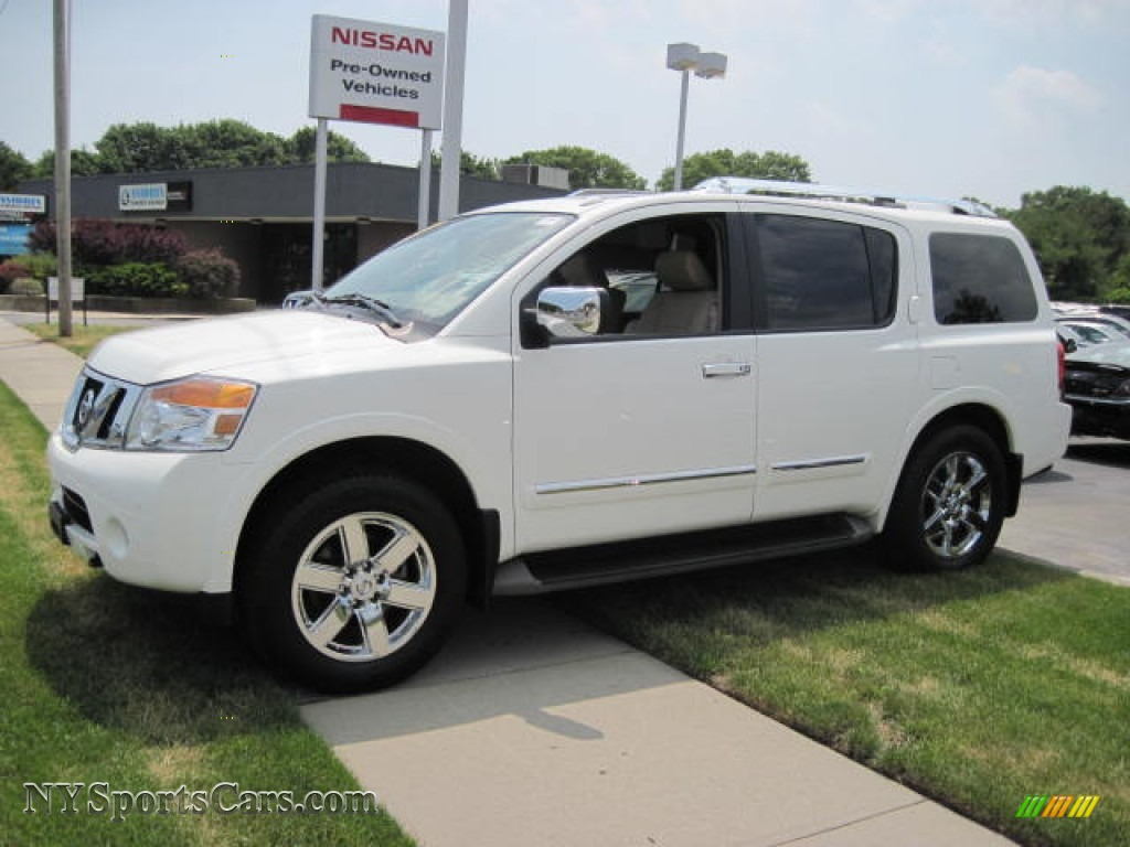 2011 nissan armada platinum 4wd in blizzard white 604143 cars for sale in. Black Bedroom Furniture Sets. Home Design Ideas