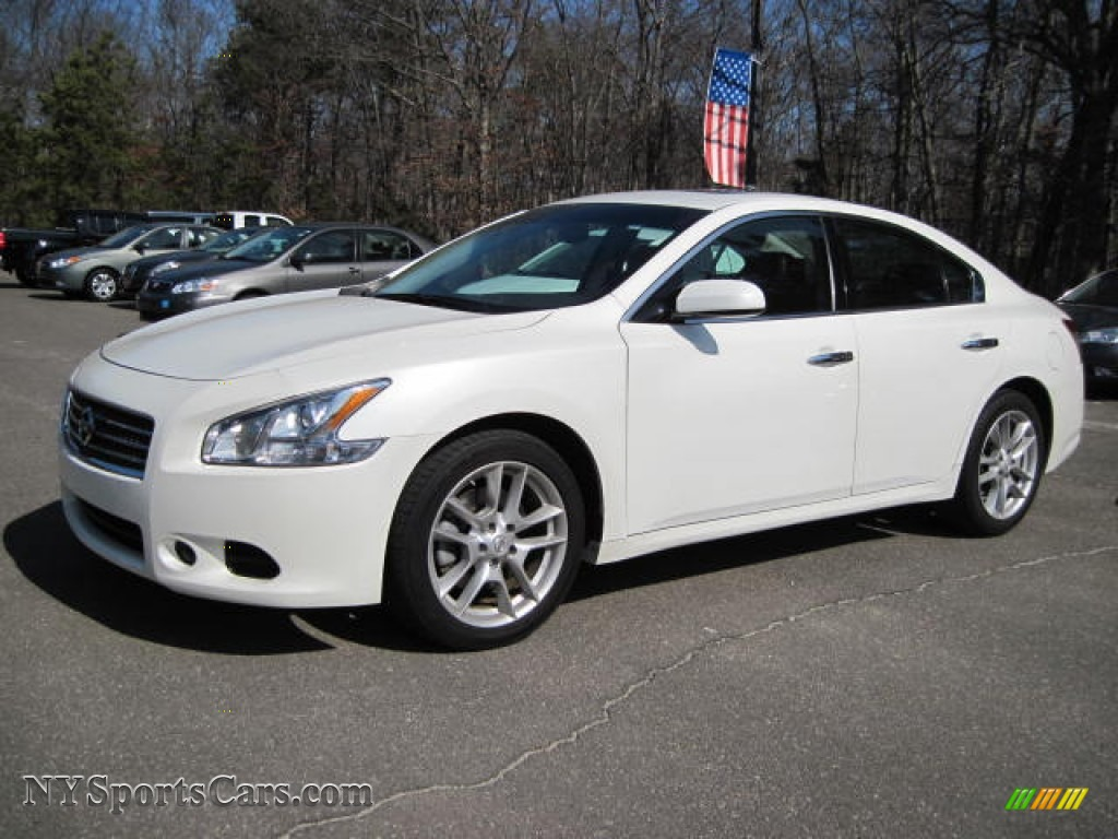 2010 Nissan Maxima 3 5 Sv In Winter Frost White 811187