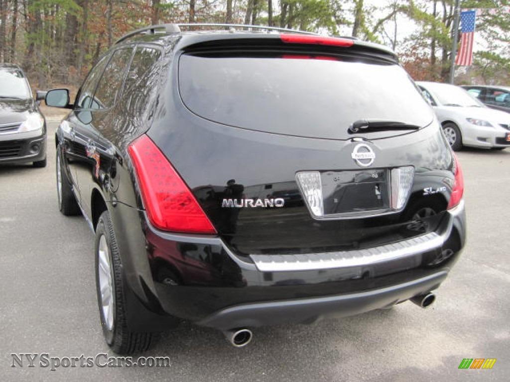 2007 Murano SL AWD   Super Black / Charcoal Photo #2