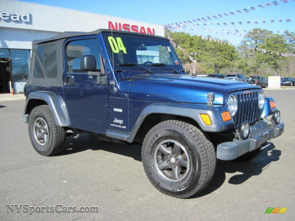 2004 Jeep Wrangler X 4x4 In Patriot Blue Pearl Photo 4