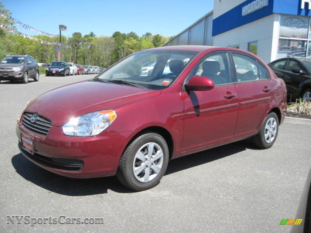 2009 Hyundai Accent Gls 4 Door In Wine Red 371461