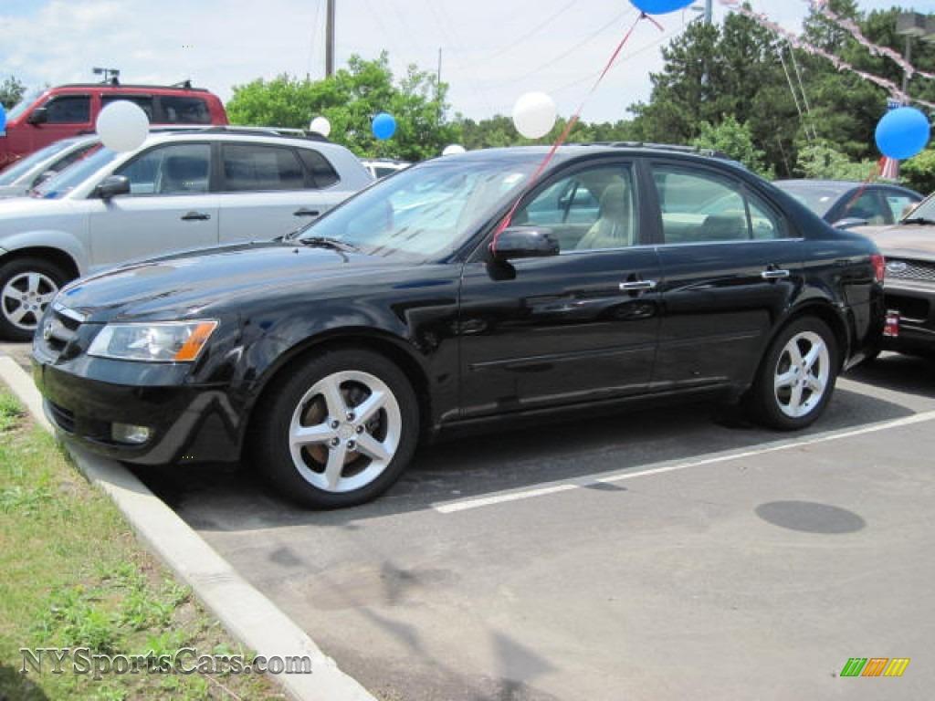 2006 Hyundai Sonata Gls V6 In Ebony Black 073618