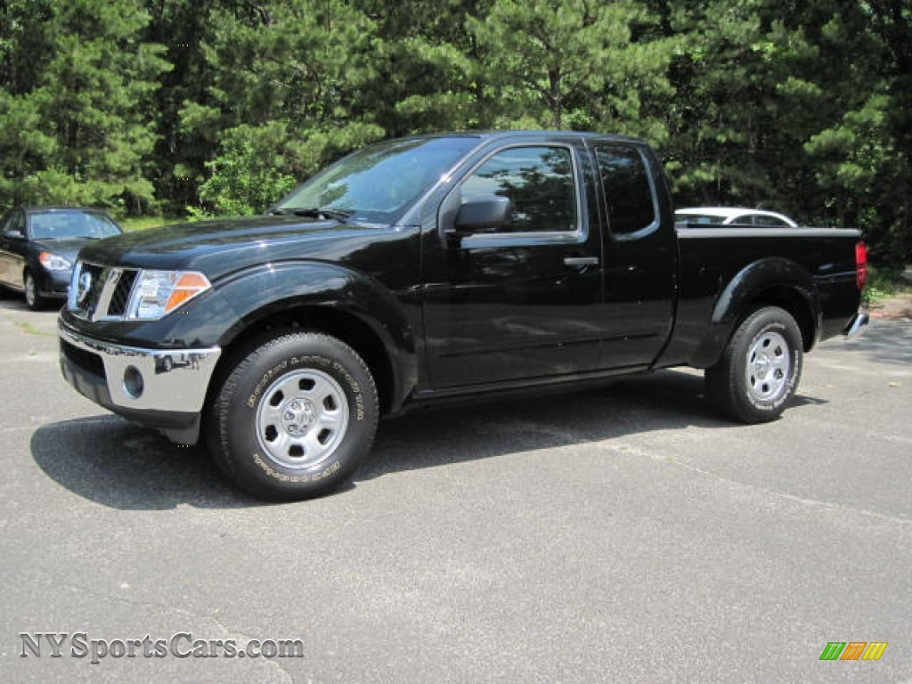 2008 nissan frontier xe king cab in super black 412096. Black Bedroom Furniture Sets. Home Design Ideas