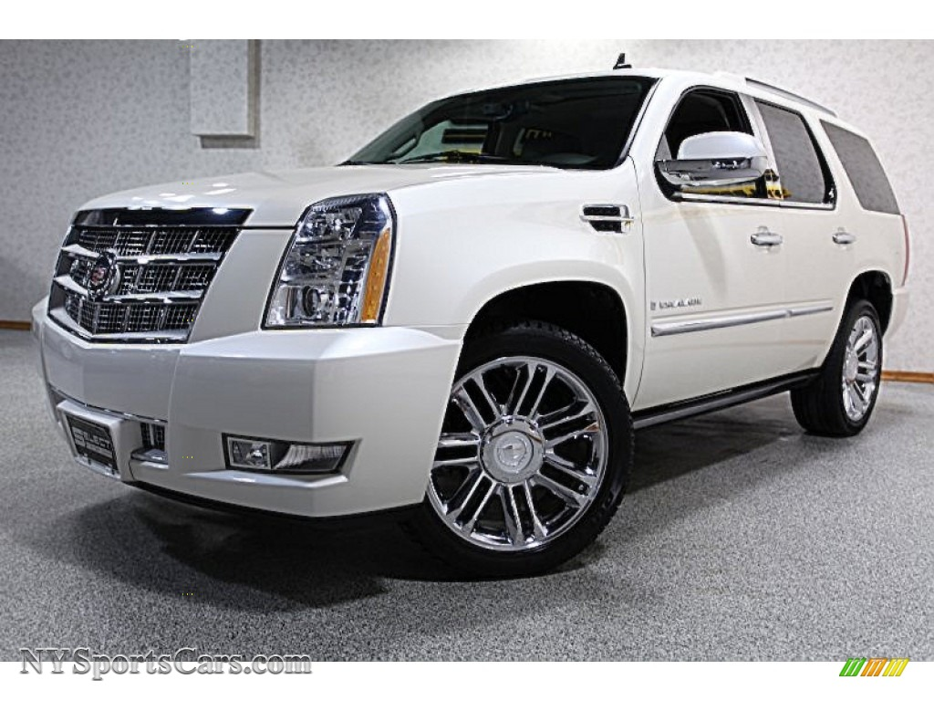 2008 cadillac escalade platinum awd in white diamond. Black Bedroom Furniture Sets. Home Design Ideas