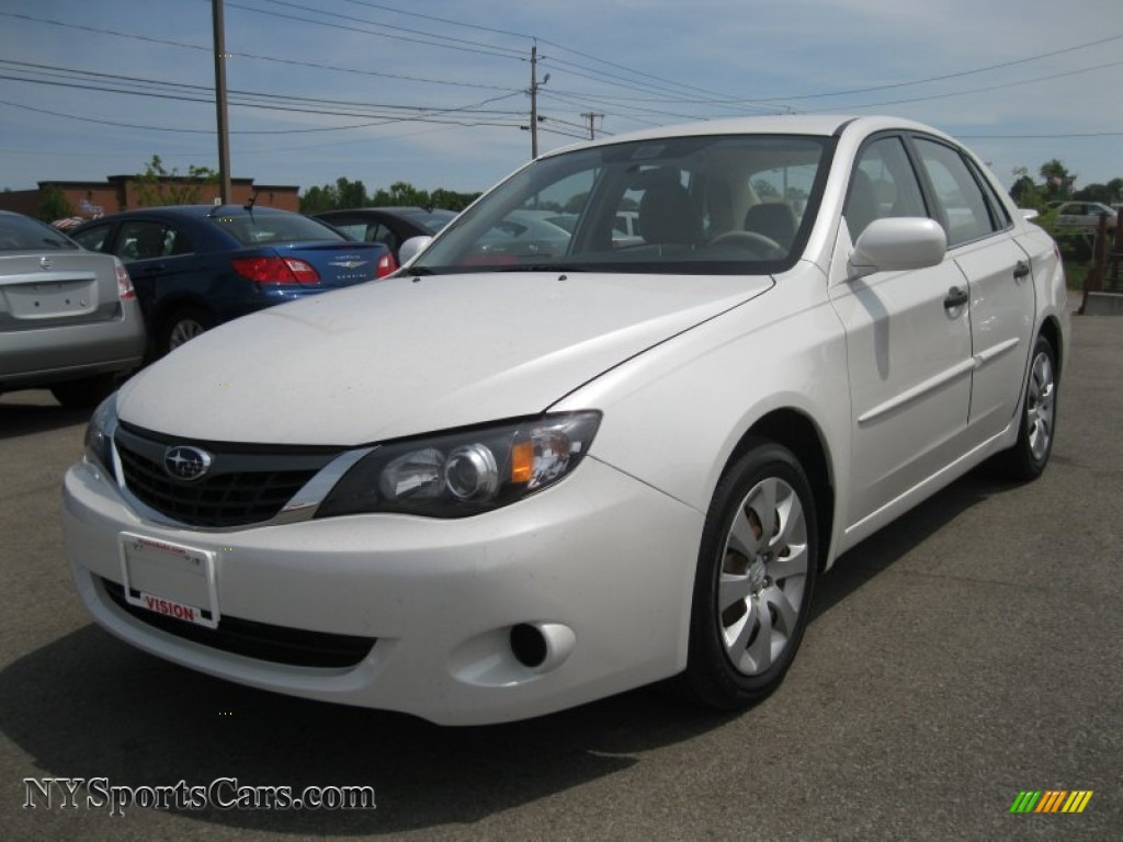 2008 subaru impreza sedan in satin white pearl 504625 cars for sale. Black Bedroom Furniture Sets. Home Design Ideas