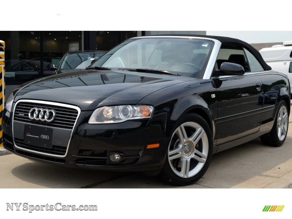 2008 audi a4 2 0t quattro cabriolet in brilliant black 007465 cars for. Black Bedroom Furniture Sets. Home Design Ideas