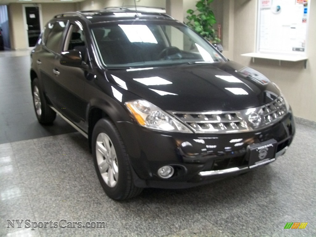 2007 nissan murano sl awd in super black 663083 nysportscars super black charcoal nissan murano sl awd vanachro Image collections