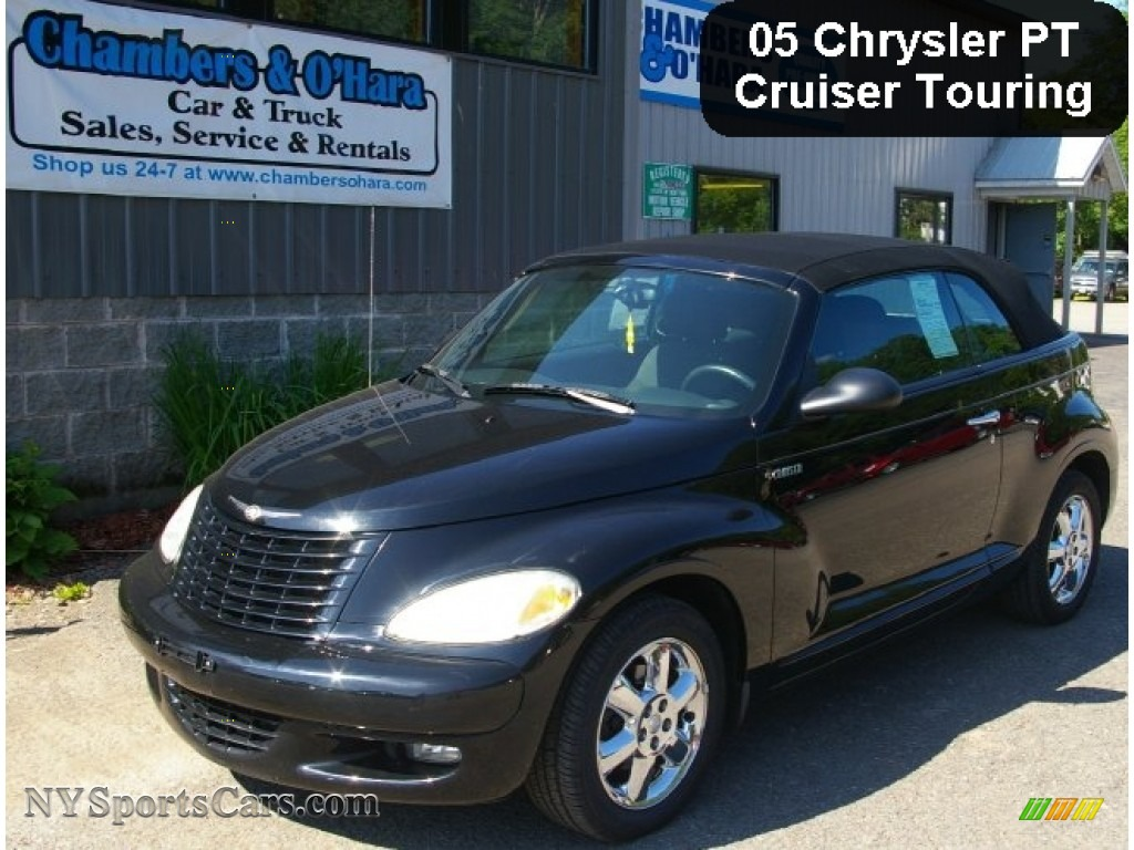 Black Dark Slate Gray Chrysler Pt Cruiser Touring Turbo Convertible