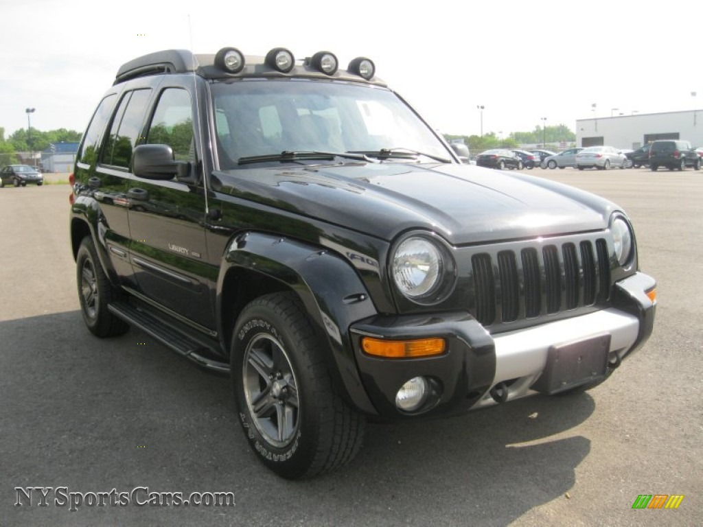 2003 jeep liberty renegade 4x4 in black clearcoat photo. Black Bedroom Furniture Sets. Home Design Ideas