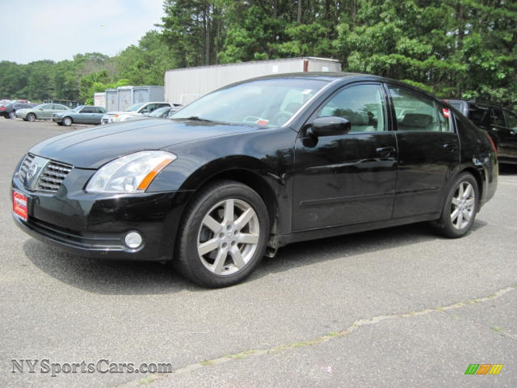 2004 nissan maxima 3 5 sl in onyx black 860678. Black Bedroom Furniture Sets. Home Design Ideas