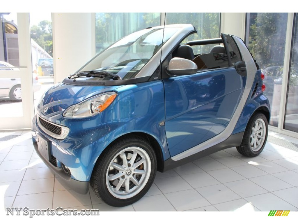 2009 smart fortwo passion cabriolet in blue metallic 284779 cars for sale. Black Bedroom Furniture Sets. Home Design Ideas