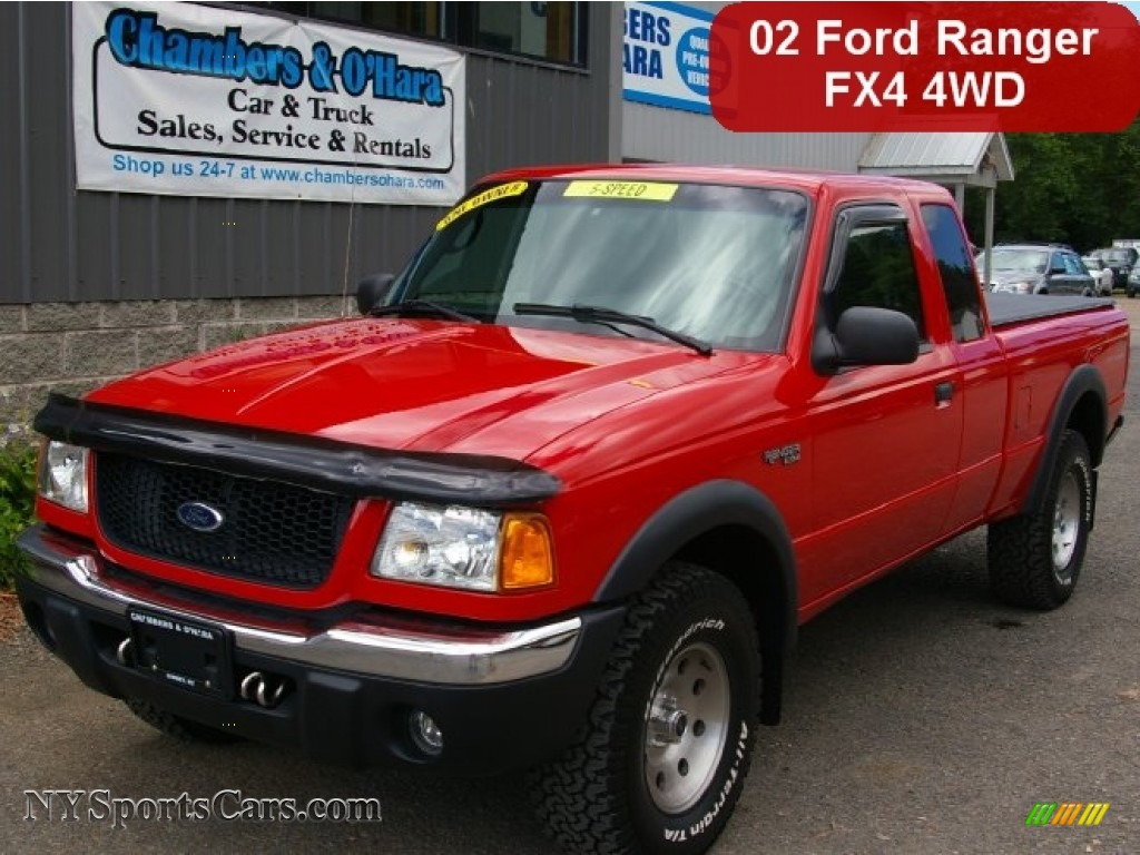 Bright red dark graphite ford ranger xlt fx4 supercab 4x4