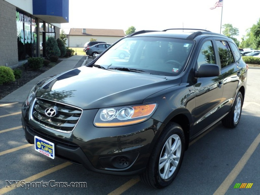2010 hyundai santa fe gls 4wd in black forest green metallic 402043 cars. Black Bedroom Furniture Sets. Home Design Ideas