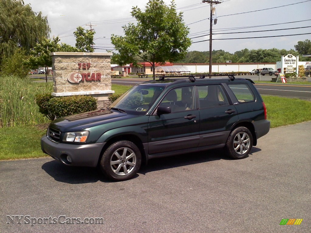 2004 subaru forester 2 5 x in woodland green pearl. Black Bedroom Furniture Sets. Home Design Ideas
