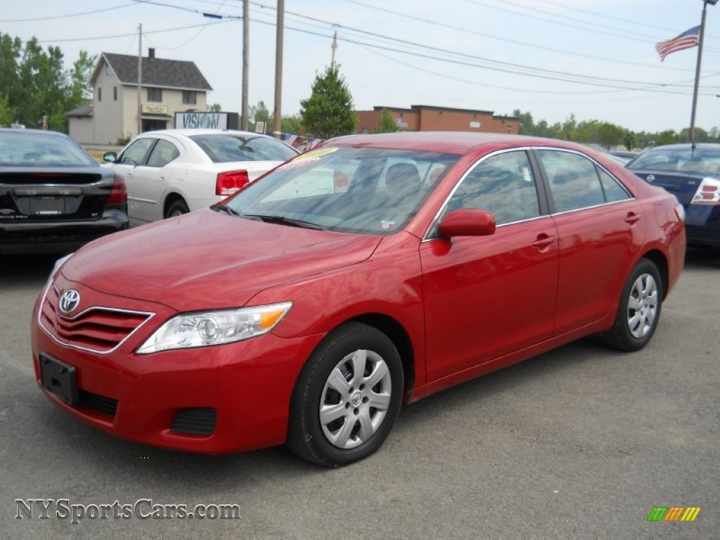 2011 Toyota Camry Le In Barcelona Red Metallic 131197