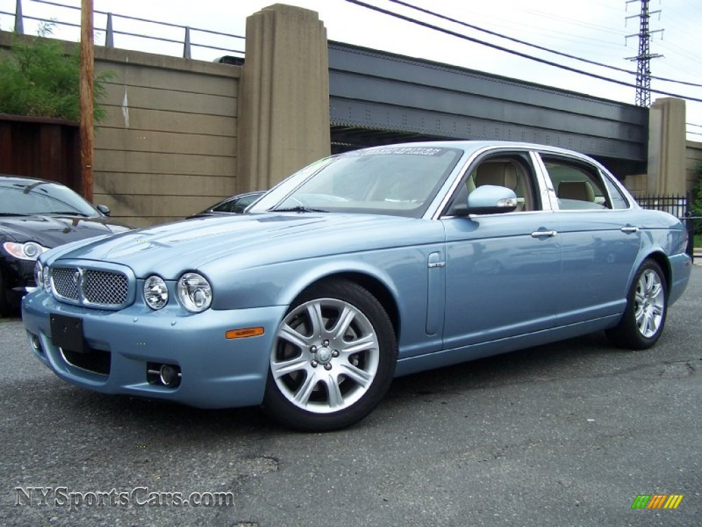 2008 Jaguar Xj Xj8 L In Frost Blue Metallic H24653 Nysportscars Com Cars For Sale In New York