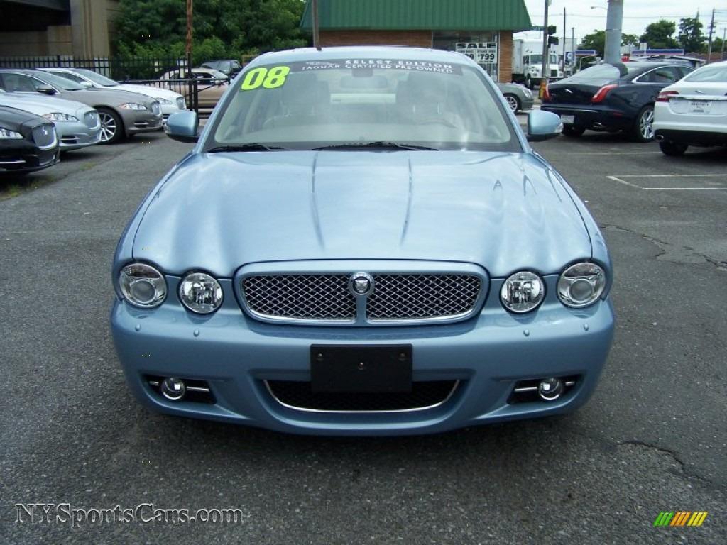 2008 Jaguar Xj Xj8 L In Frost Blue Metallic Photo 2