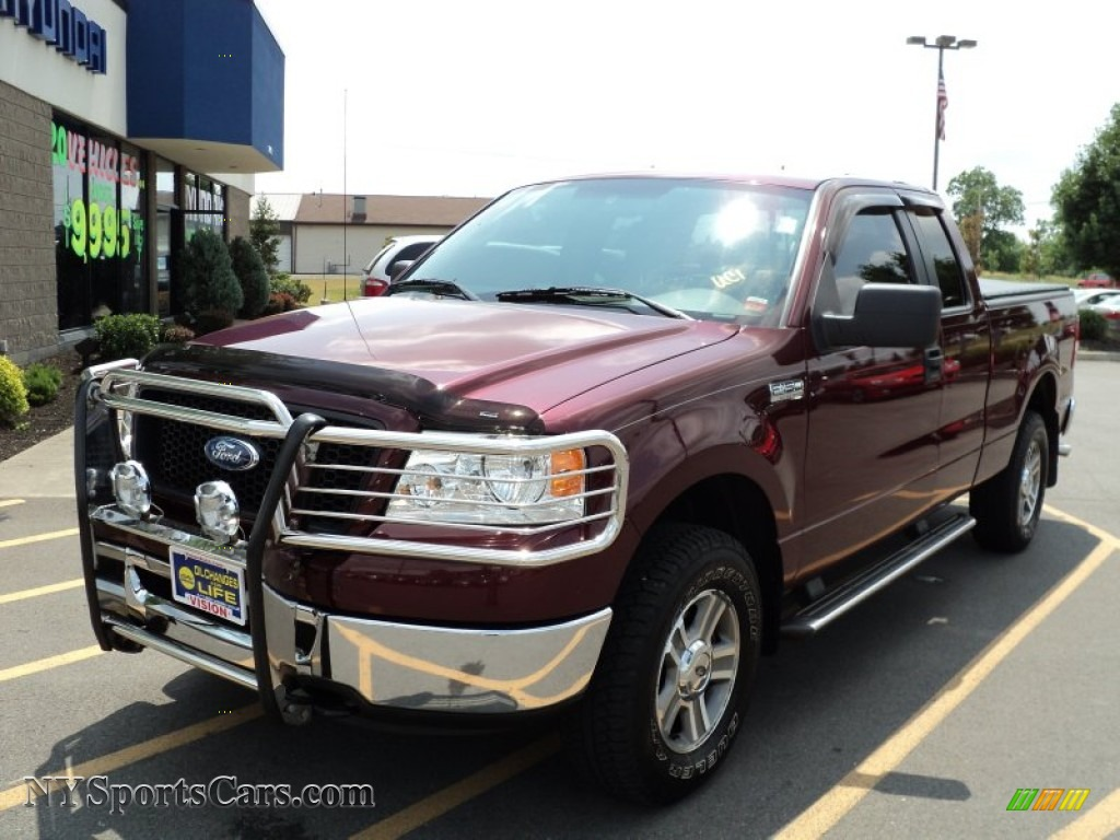 2006 Ford F150 Xlt Supercab 4x4 In Dark Toreador Red