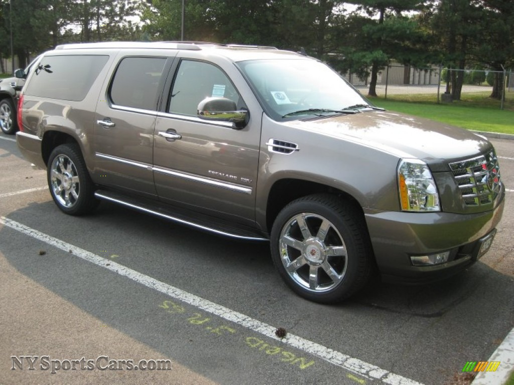 2011 Cadillac Escalade Esv Luxury Awd In Mocha Steel
