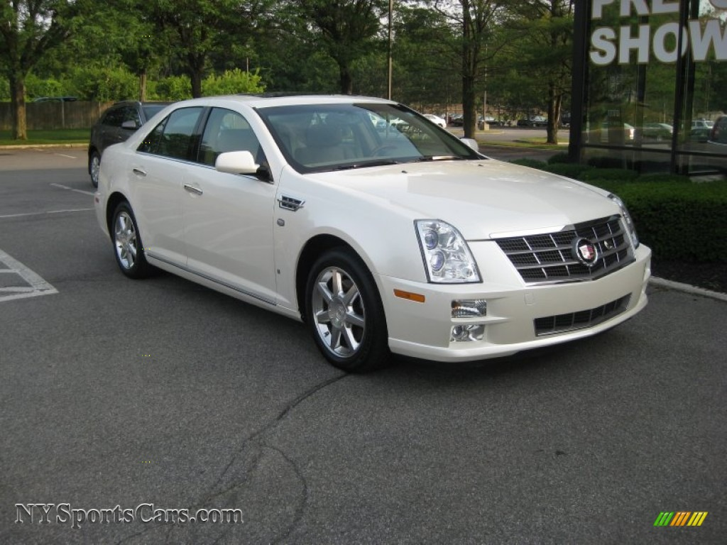2008 Cadillac Sts 4 V6 Awd In White Diamond Tricoat