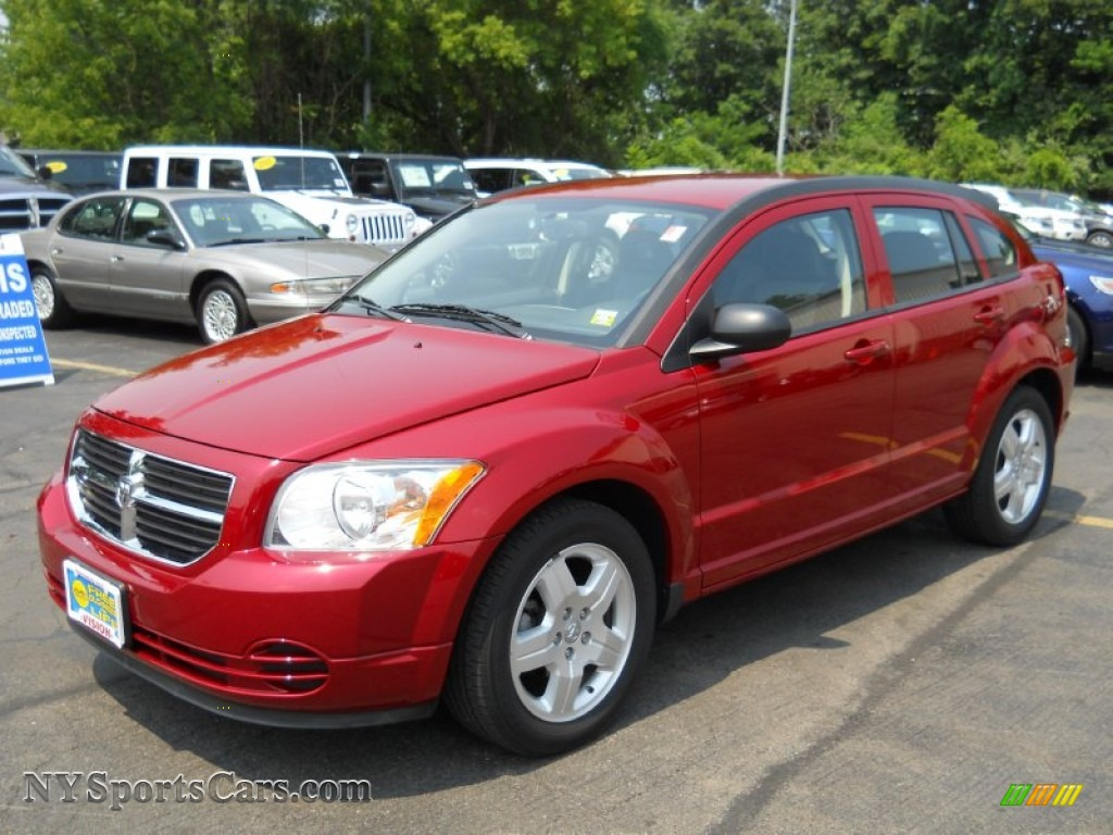 2009 Dodge Caliber Sxt In Inferno Red Crystal Pearl