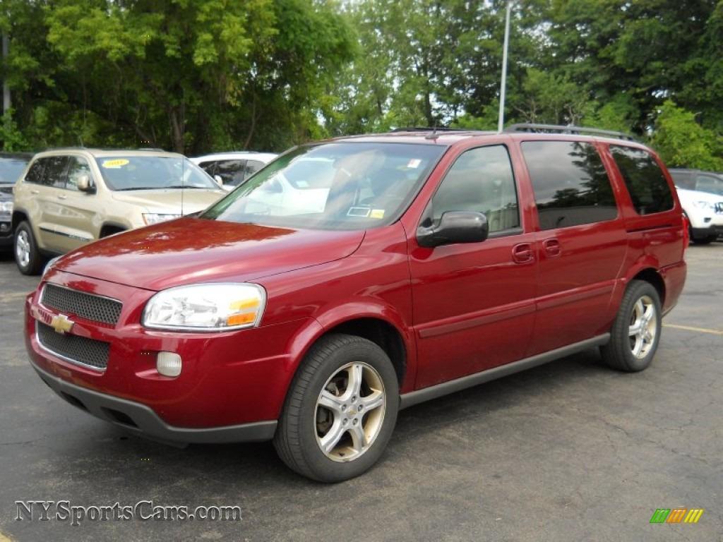 Sport red metallic medium gray chevrolet uplander ls