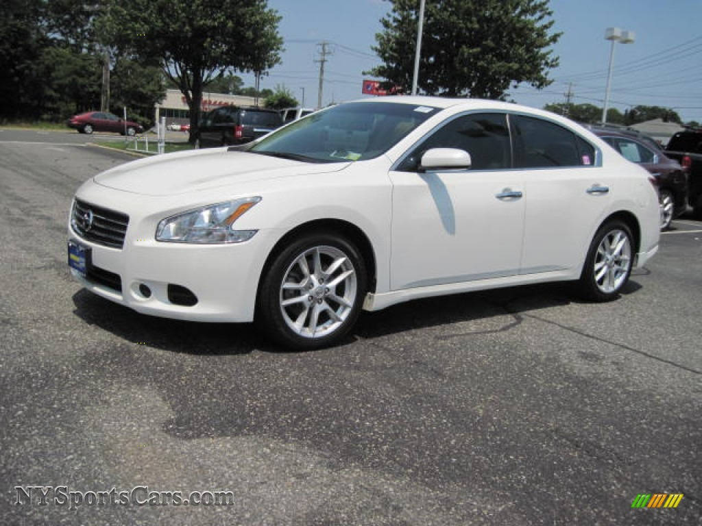 2009 nissan maxima 3 5 s in winter frost white 821812 cars for sale in. Black Bedroom Furniture Sets. Home Design Ideas