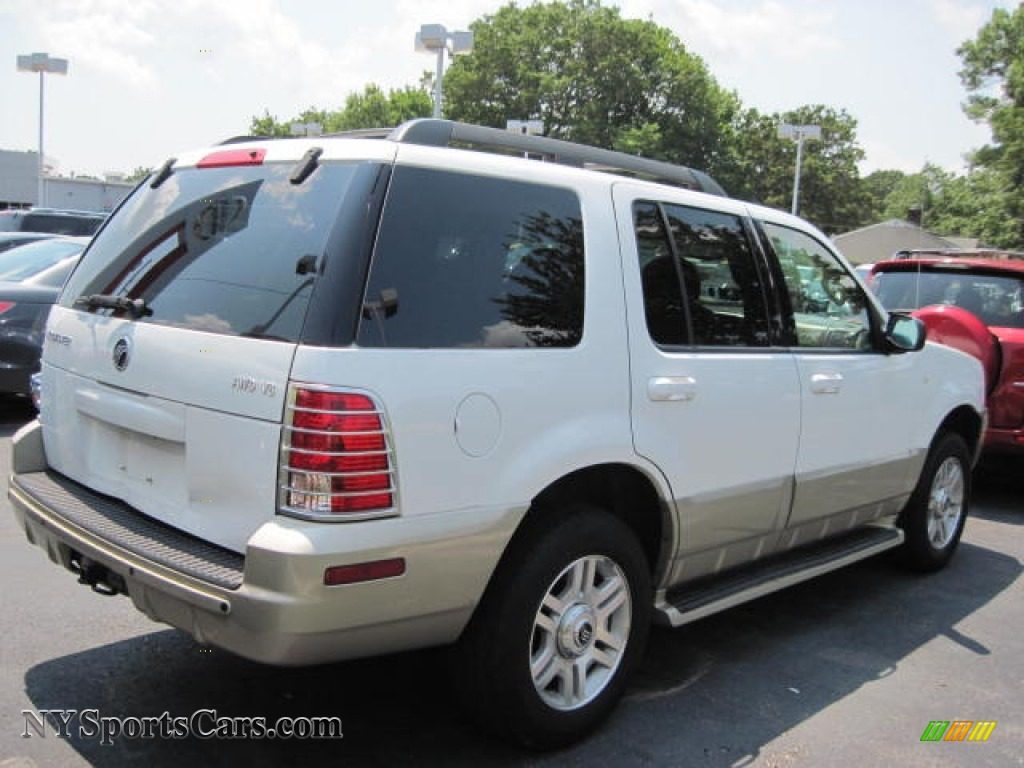 2005 Mercury Mountaineer V8 Awd In Oxford White Photo 3 J02304 Cars For