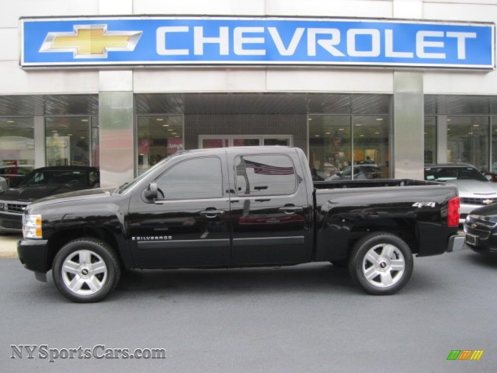 2008 Chevrolet Silverado 1500 Ltz Crew Cab 4x4 In Black