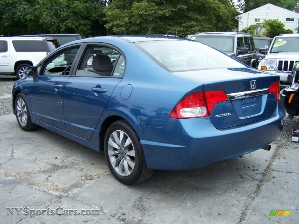 2009 Honda Civic Ex Sedan In Atomic Blue Metallic Photo 2