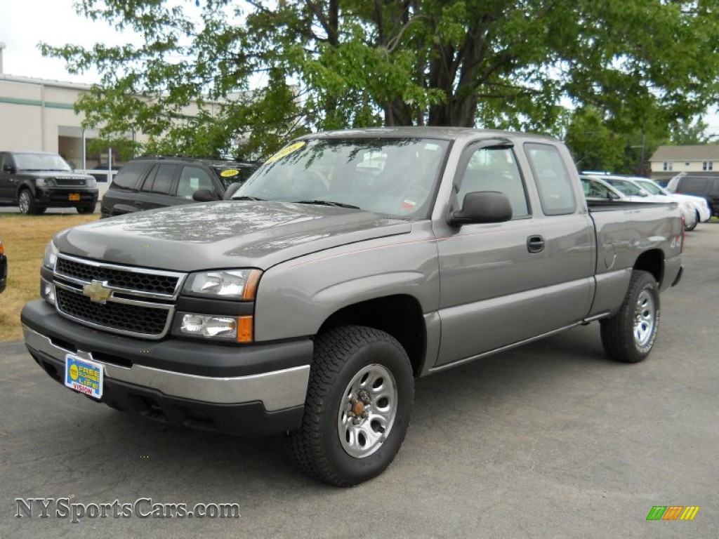 2006 chevrolet silverado 1500 ls extended cab 4x4 in graystone metallic 133386 nysportscars. Black Bedroom Furniture Sets. Home Design Ideas