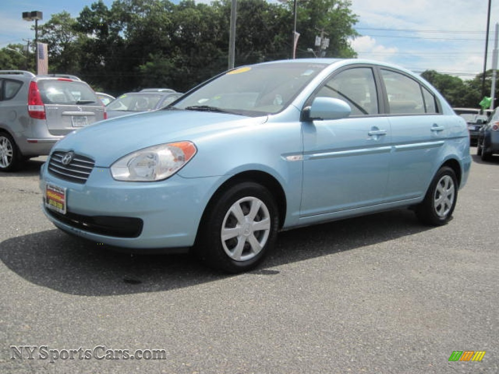 2007 hyundai accent gls sedan in ice blue 113235 cars for sale in new york. Black Bedroom Furniture Sets. Home Design Ideas