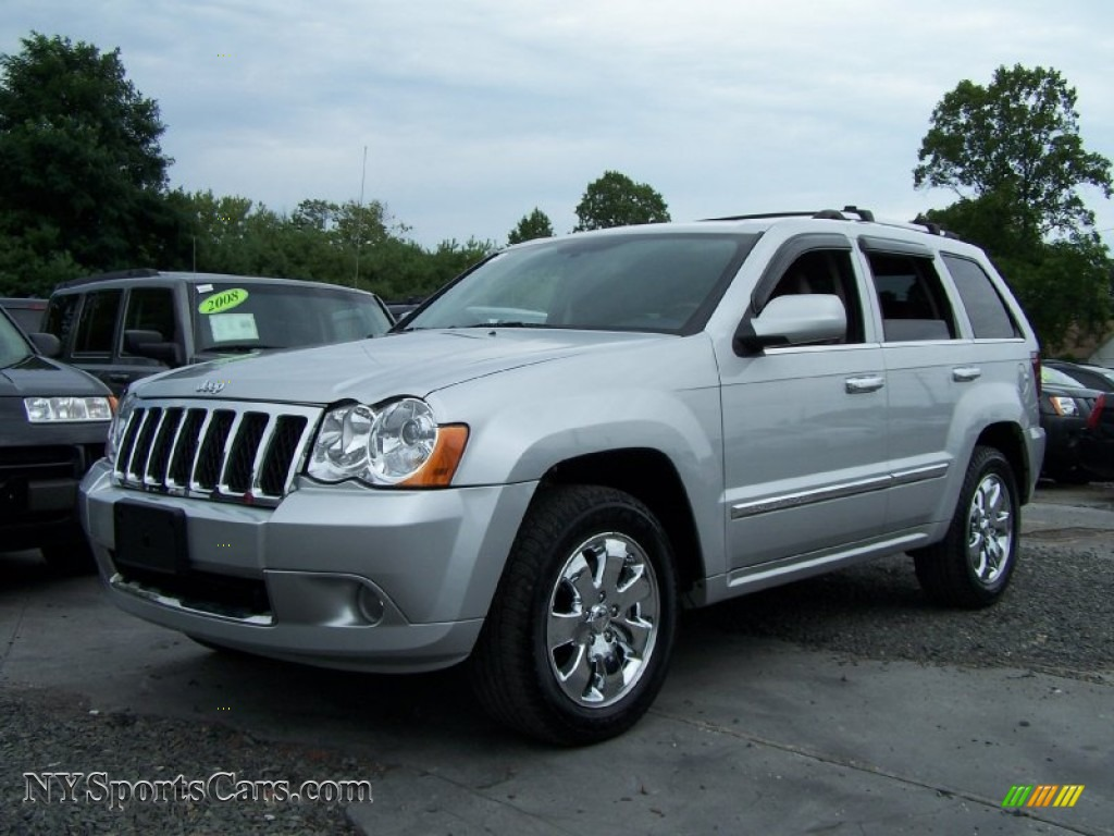 2008 jeep grand cherokee overland 4x4 in bright silver metallic. Black Bedroom Furniture Sets. Home Design Ideas