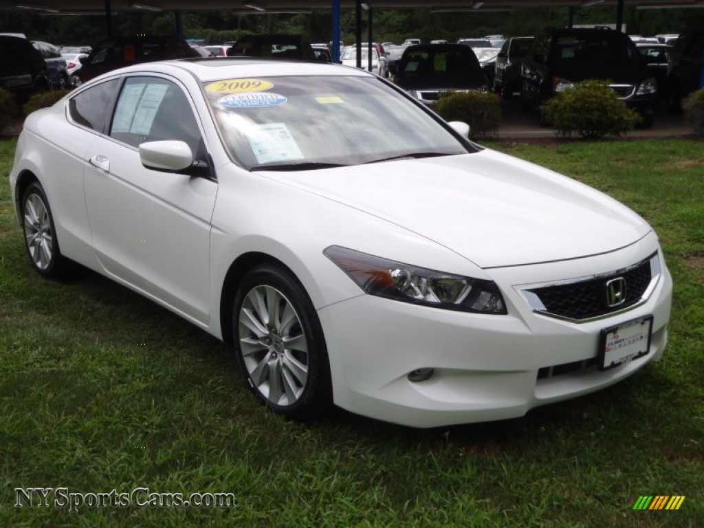 2009 Honda Accord Ex L V6 Coupe In Taffeta White 001400 Nysportscars Com Cars For Sale In