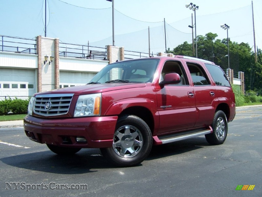 2004 cadillac escalade awd in red e 136557. Black Bedroom Furniture Sets. Home Design Ideas